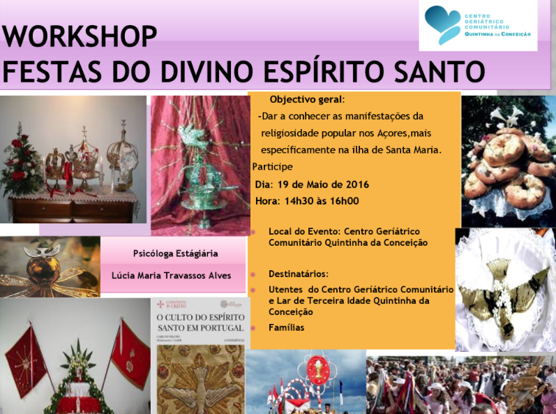Workshop festas do divino espirito santo